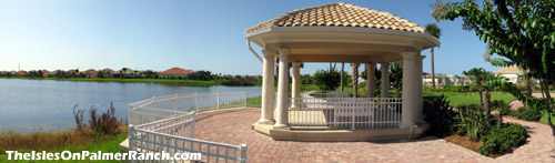 Bring a good book to read in the shade of the gazebo behind the clubhouse while looking out over the tranquil lake.